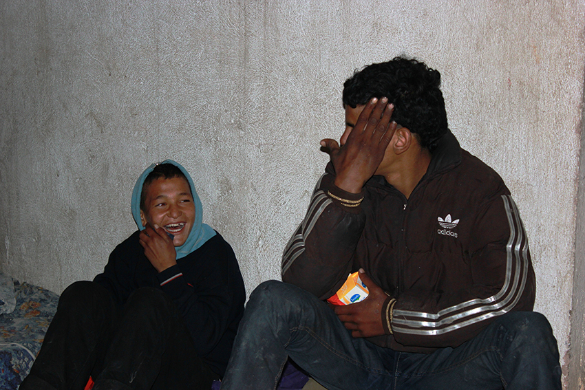 Homeless Moroccans